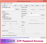 Free ZIP Password Recovery Screenshot