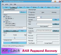 KRyLack RAR Password Recovery Screenshot
