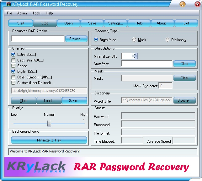 winrar password recovery software
