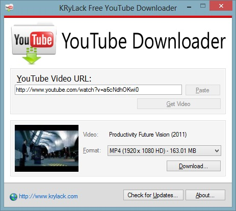 Free Youtube Downloader Krylack Software